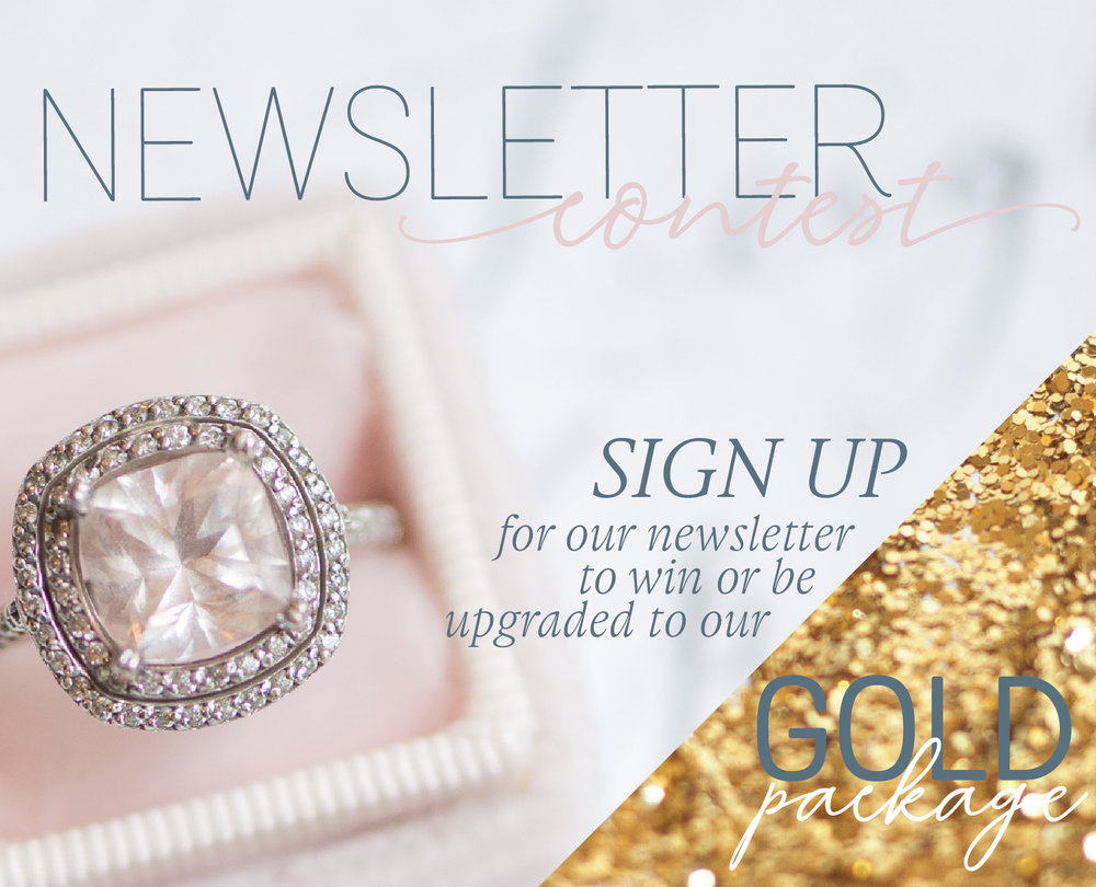 Sign up for our Weddings Atlantic Vendor Newsletter    between NOW and November 15, 2018 for a chance to win, or be upgraded, to our Gold Advertising Package.  Our Newsletter will keep you up to date with future events and services, Spotlight Vendors in our industry, upcoming trade shows, advertising opportunities, collaborations and contests/giveaways!