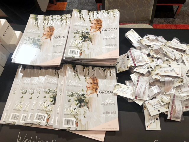 Copies of Weddings New Brunswick Issue 2 on the swag table!