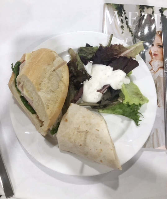 We were treated to a soup, sandwich and salad buffet.