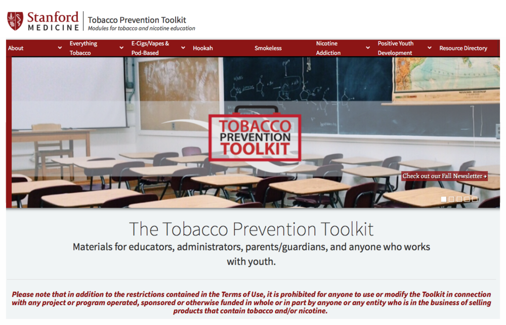 Stanford Tobacco-Free Toolkit