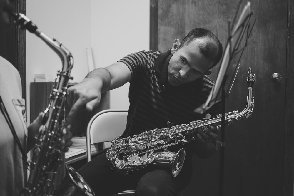 Teaching -  José has served as Instructor of Music Theory and Aural Skills at Columbia College in Columbia, MO (Fall 2018). In addition, from 2011 through 2015, José served as Teaching Assistant at the University of Iowa for both the Saxophone and Music Theory areas. As Teaching Assistant for the Saxophone area, José taught Saxophone, Woodwind Pedagogy and Literature, and Instrumental Techniques. For the Music Theory area, he taught Musicianship.From 2012 through 2013, José served as Assistant Professor of Music at Truman State University in Kirksville, MO, where he taught Saxophone, Music Theory, and Aural Skills. José's students have gone into music teaching positions in Missouri and Iowa schools or to pursue graduate degrees in music in programs such as New York University, Indiana University, and Ohio State University.