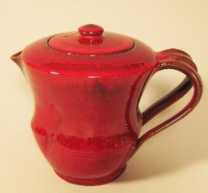 "Kamakura-Red ""Bamboo"" Teapot"