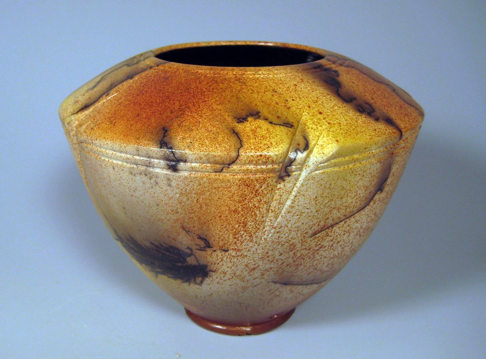 """Golden Lotus"" Horsehair Vessel"