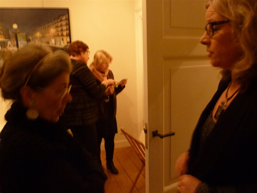 Clara Sikking the gallery owner and paintress Ingrid van Polen. Thank you so much Clara!