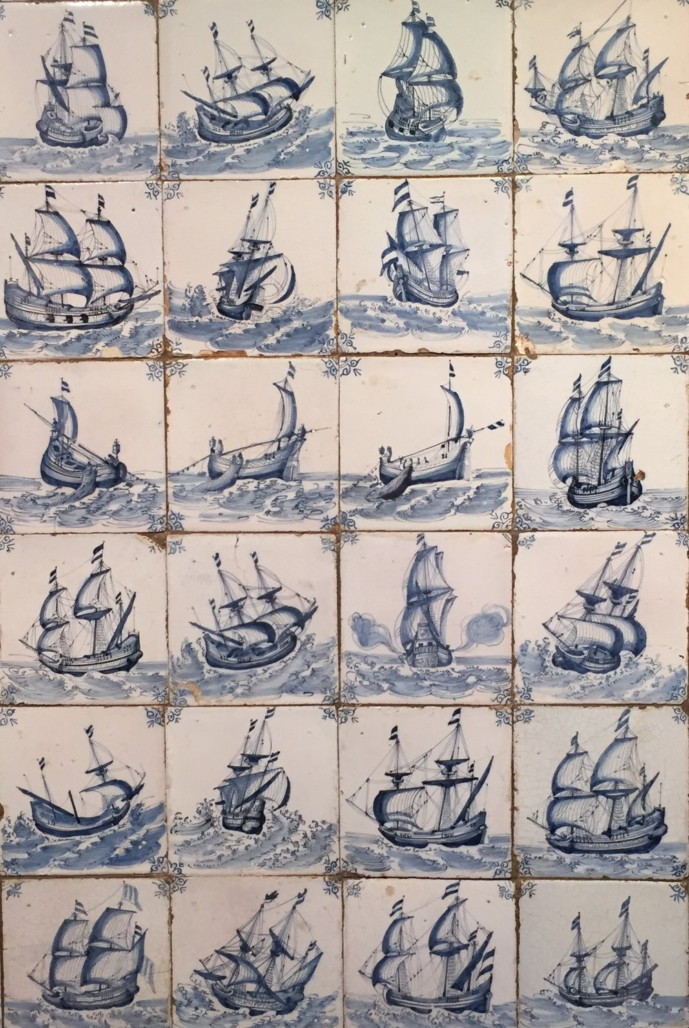So many beautiful tiles and of course the Dutch ships are magnificent!