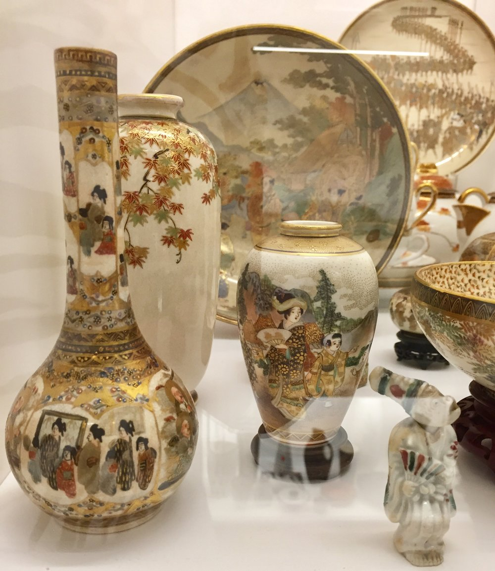 Some beautiful Japanese Satsuma Porcelain ware.