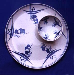 "1998 ""Swan-Blue"" dinnerware"