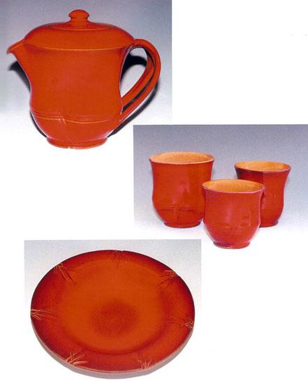 """The SHANGHAI Pot Museum Catalogue - The SHANGHAI Catalogue """"POT"""" Museum Photos. Kamkura-Red"""