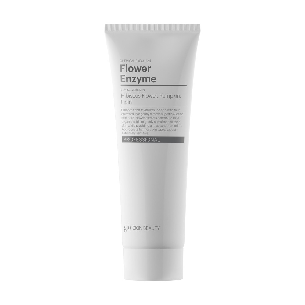 FLOWER ENZYME   Revitalizes the skin with fruit  enzymes  that gently remove superficial dead skin cells.  Flower  extracts contribute mild organic acids to gently stimulate and tone skin while providing antioxidant protection.