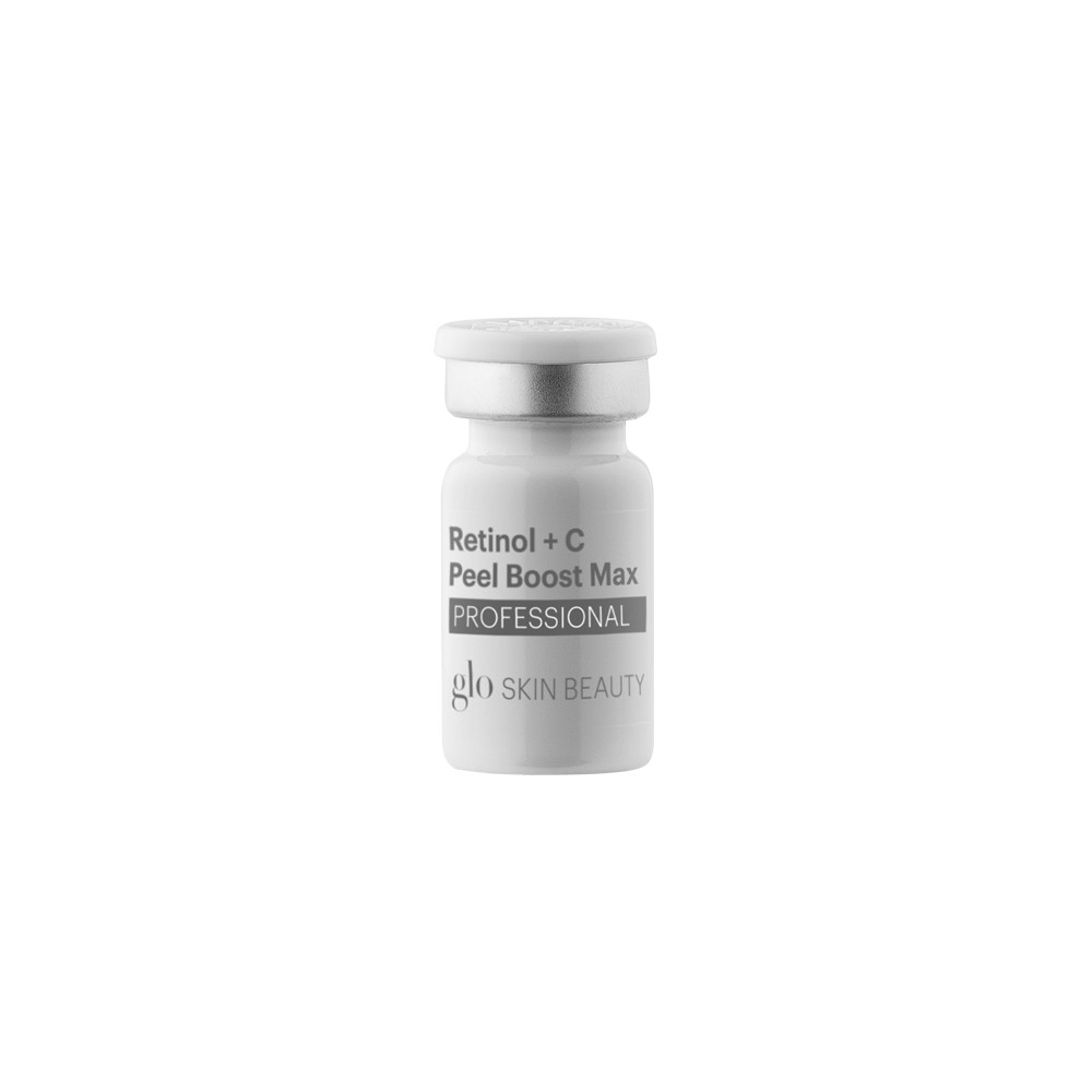 RETINOL + C PEEL BOOST   A unique and versatile professional exfoliant which provides an effective way to achieve skin sloughing. This leave-on Retinol and Vitamin C formula is designed to be used either as a stand-alone treatment or to intensify another Glo Skin Beauty professional chemical exfoliant.