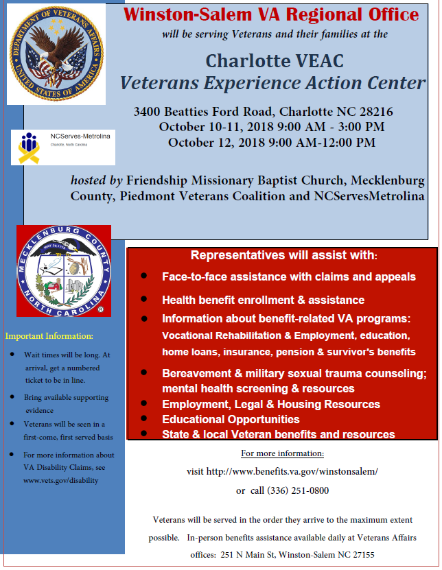 Oct 10 12 Sup Veterans Community Action Center Charlotte