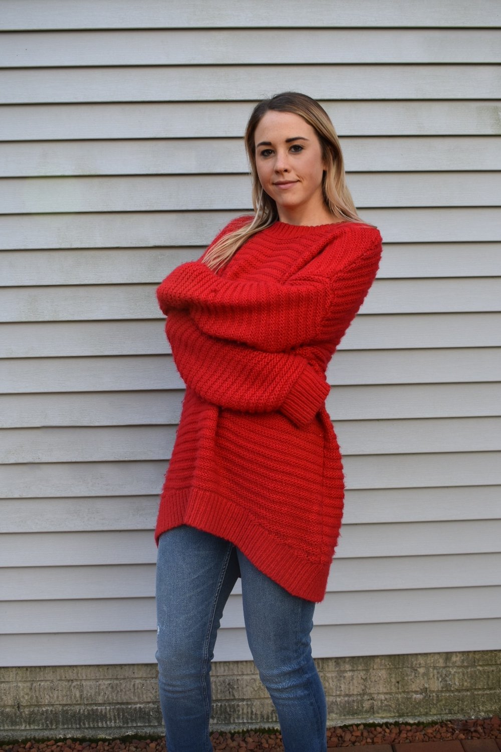 Red Sweater -