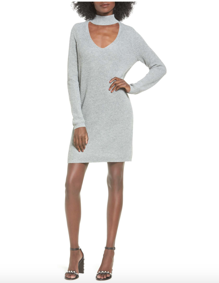 Cutout Sweater Dress -