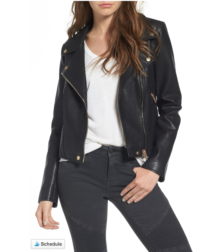 My Basic Faux Leather Jacket -