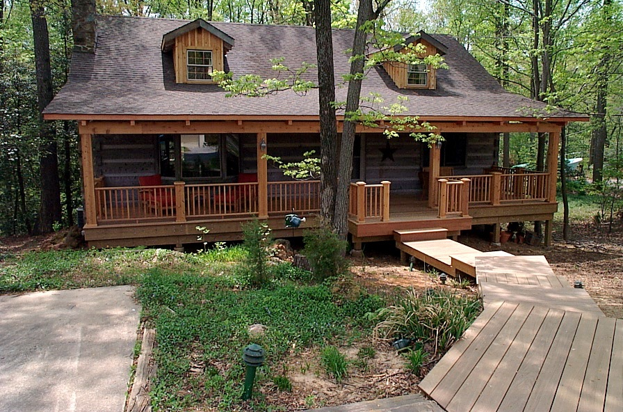 Log cabin style home
