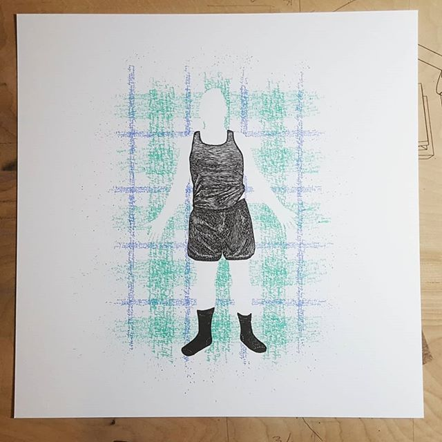 4 out of 6 layers printed - 2 more to go. . . . . #screenprint #screenprinting #printscreening #linocut #reliefprint #printmaking #wip #nycartist #irvingprints
