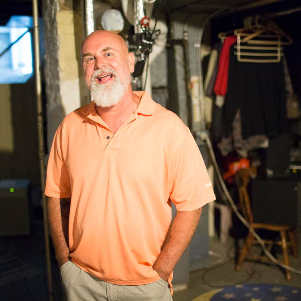 Home repair funds from MOI helped fix basement leaks.