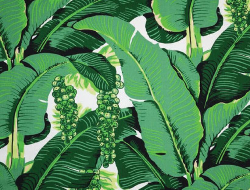 "Dorothy Draper's iconic ""Brazilliance"" print"