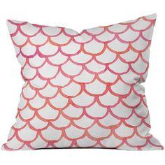 Scalloppy Outdoor Throw Pillow