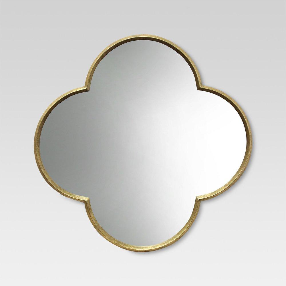 Gold Quatrefoil Mirror