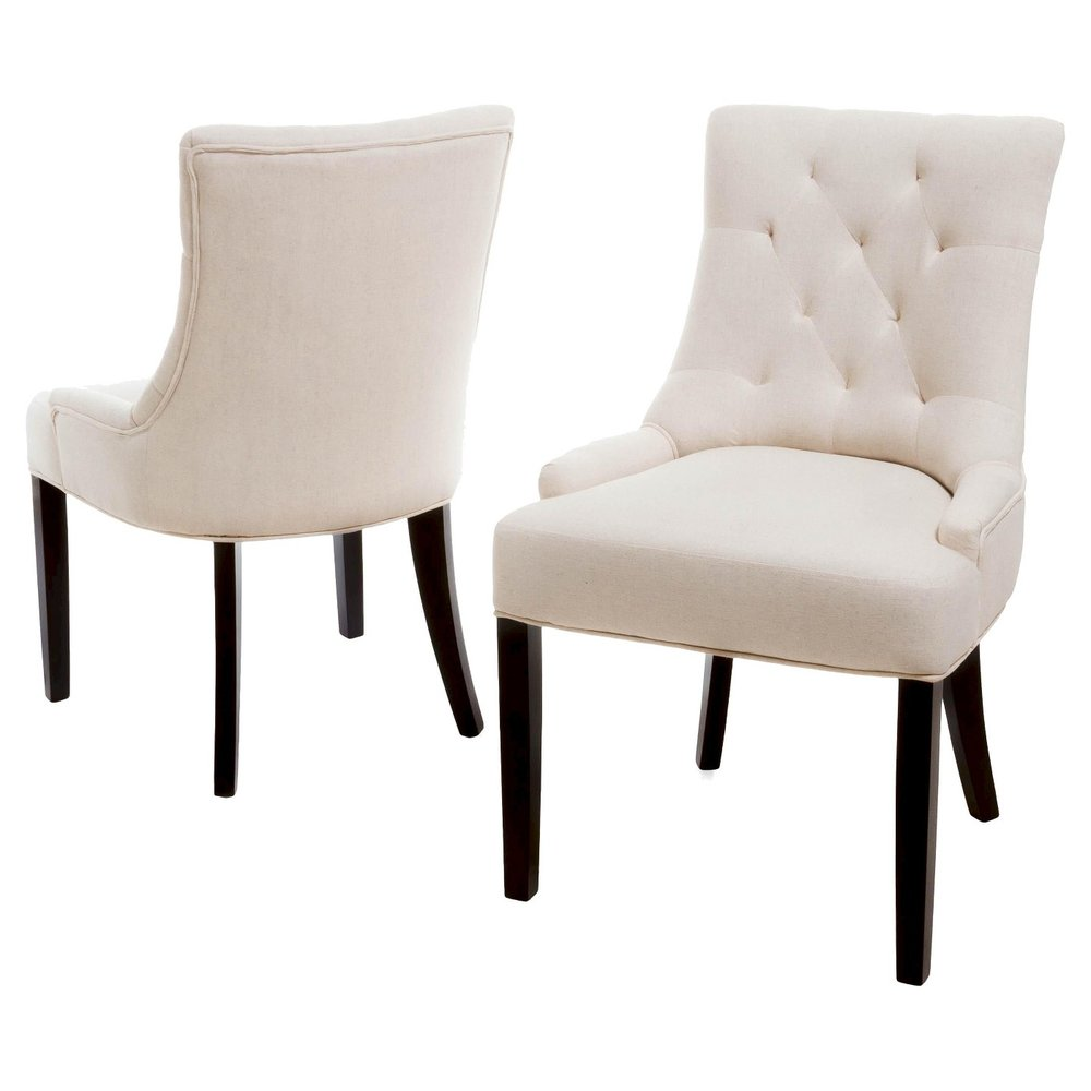 Set of Tufted Dining Chairs