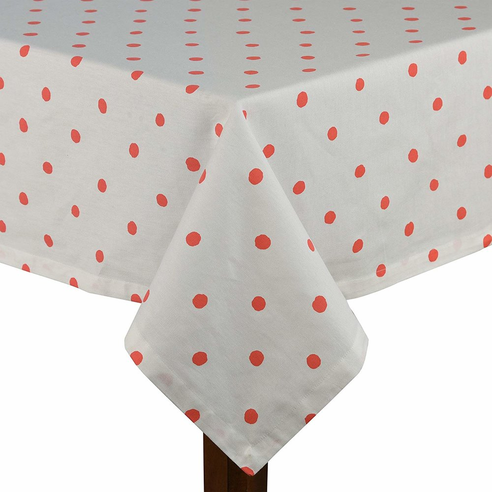 KATE SPADE Coral Tablecloth