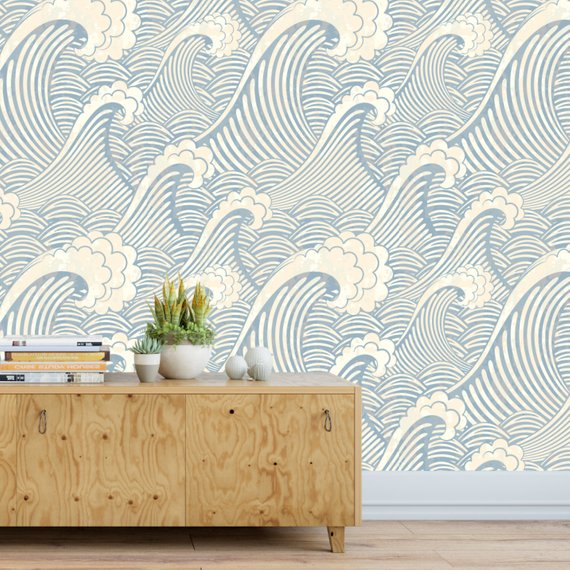 Great Wave Adhesive Wallpaper
