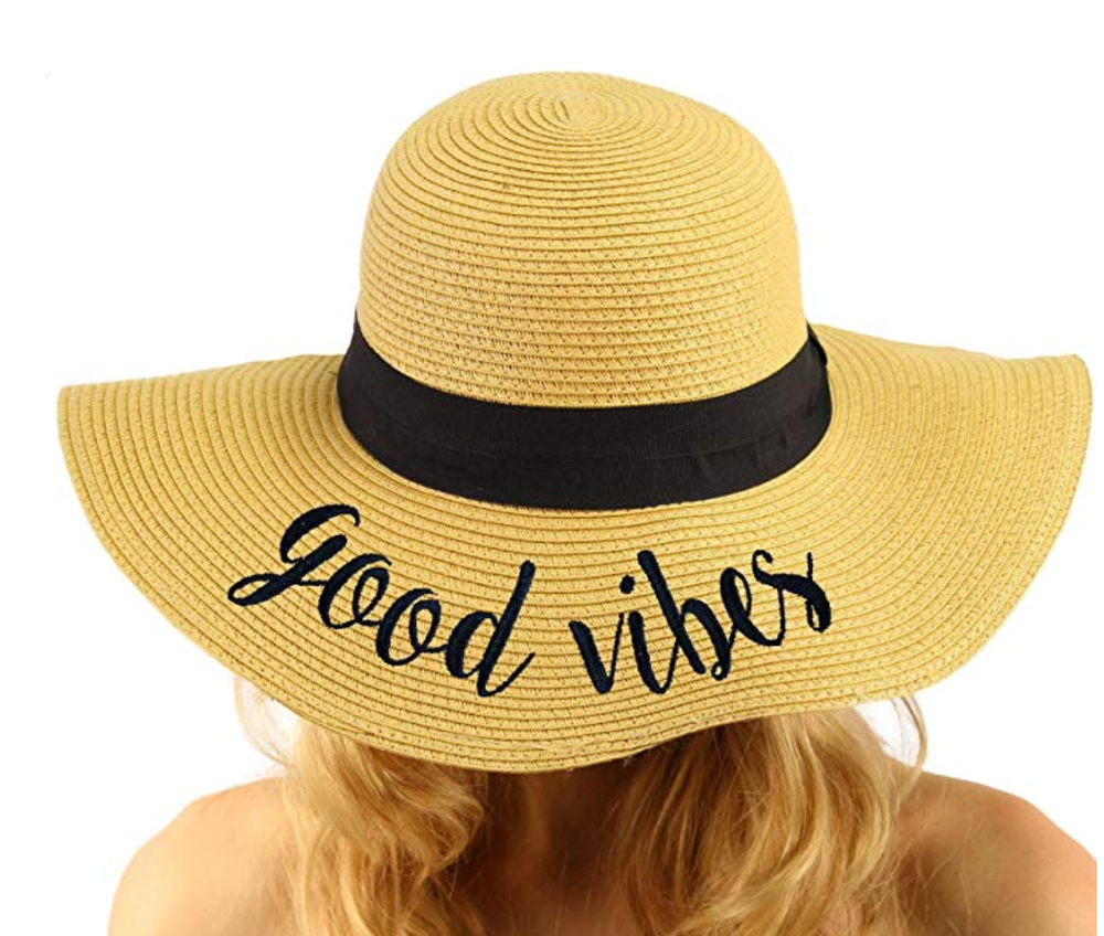 Good Vibes Floppy Hat $16