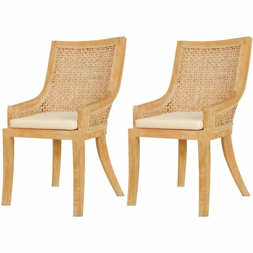 Rattan/Cane Chairs, Set of 2 $156