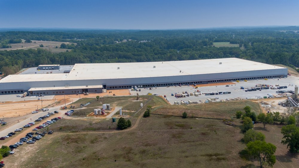 Construction Progress Overview Distribution Center