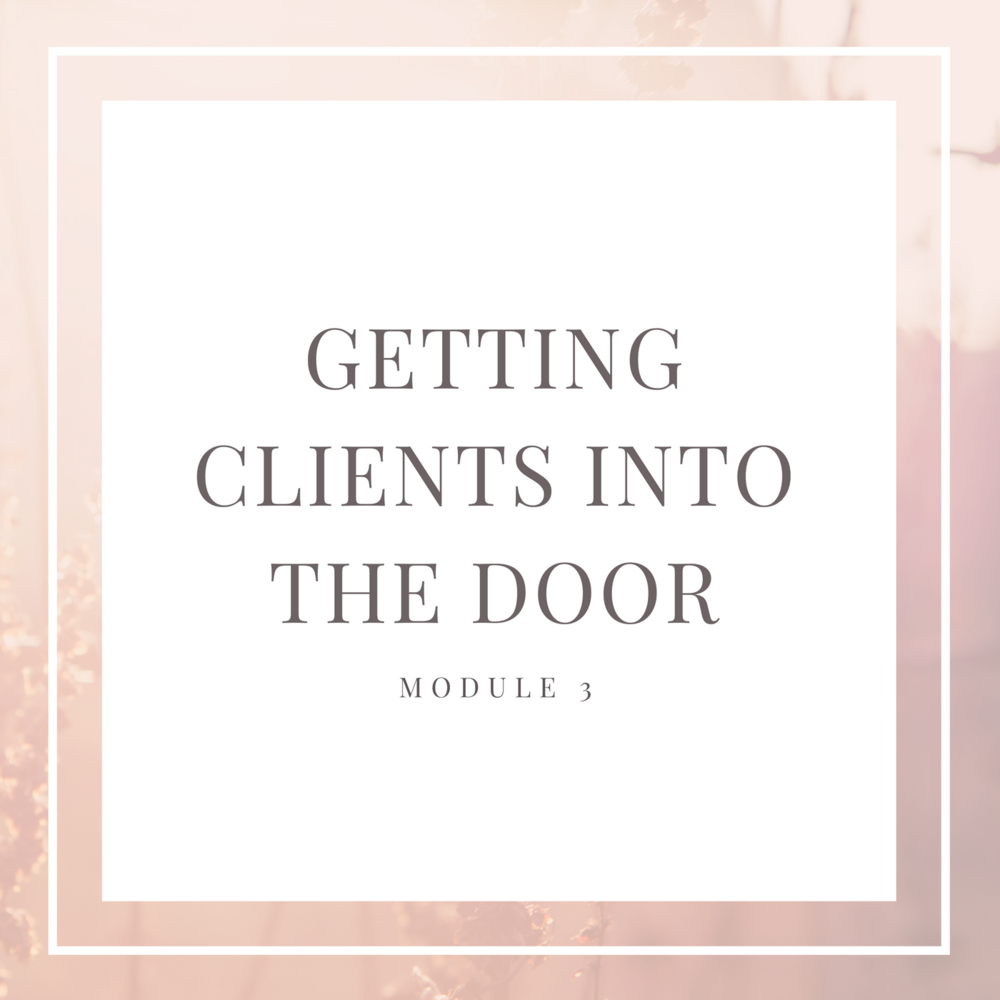 6-FIGURE FLOOR PLAN Module 3: Getting Clients Into the Door