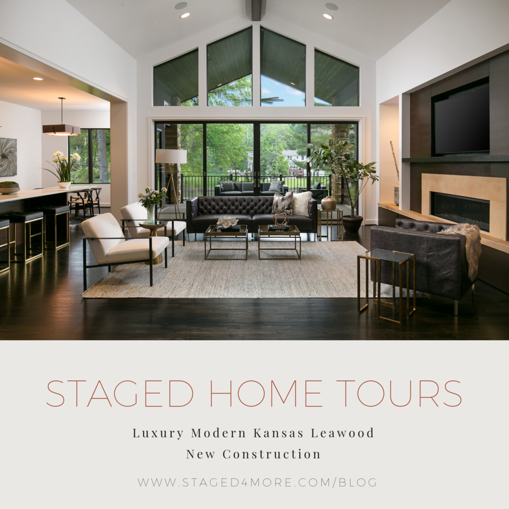 Staged4more Staged Home Tour: Luxury Modern Kansas Leawood New Construction