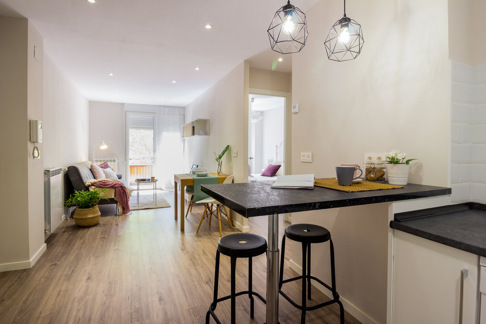 Staged4more Staged Home Tour A Young and Fresh Rental Apartment in Spain After living kitchen.jpg