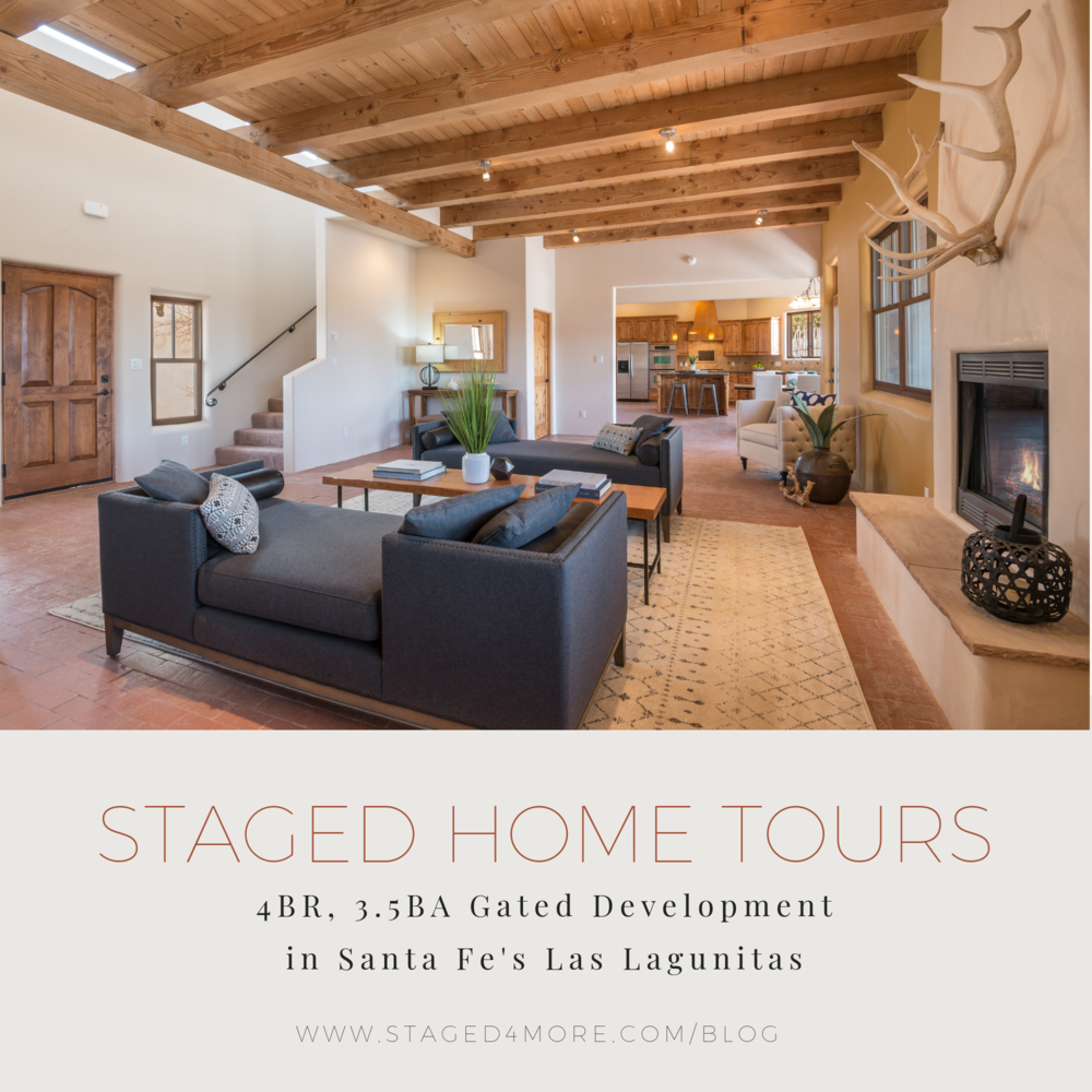 | Staged Home Tour: 4BR, 3.5BA Gated Development in Santa Fe's Las Lagunitas Presented by Staged4more School of Home Staging