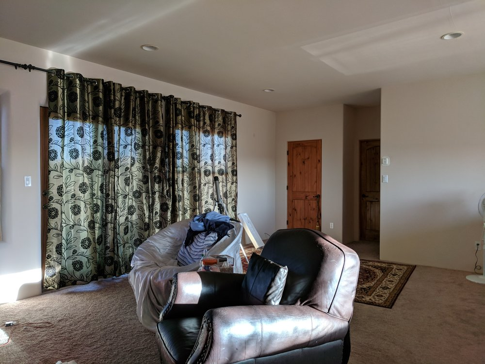 The family room before staging
