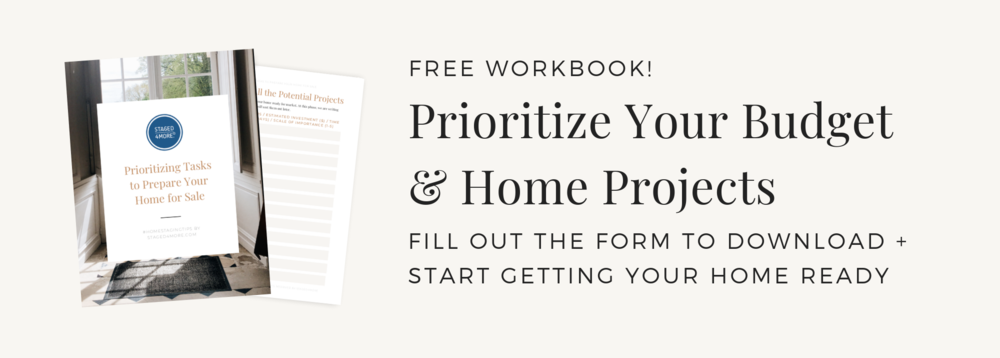 Free Workbook Prioritizing Tasks to Prepare Your Home for Sale by Staged4more School of Home Staging