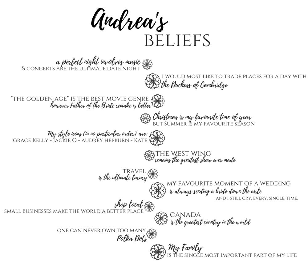 Andrea's Beliefs