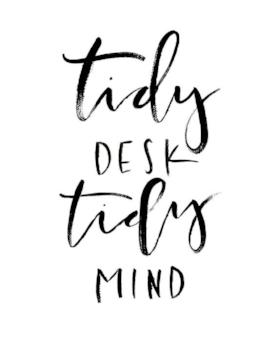 tidy desk tidy mind image
