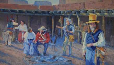 """Gathering at Bent's Old Fort"" by Gary Gore will adorn the Capital's walls in May."