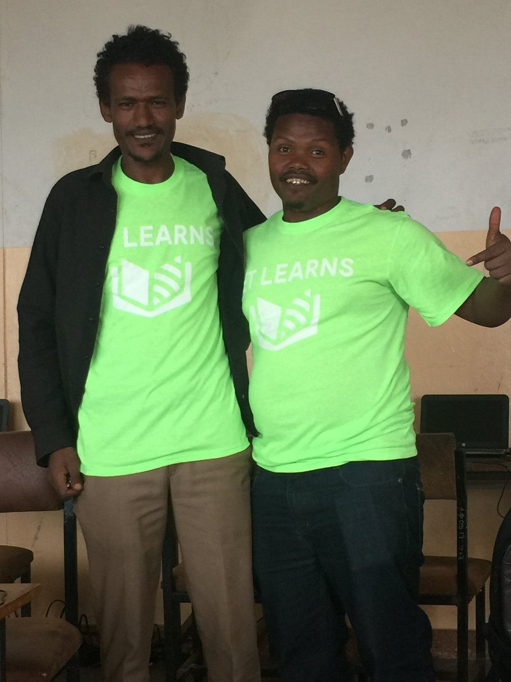 Ashenafi, right, has been working at ET Learns as our Ethiopian Coordinator for almost two years.