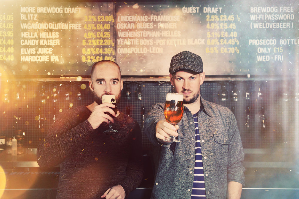 BrewDog Founder Martin Dickie and James Watt