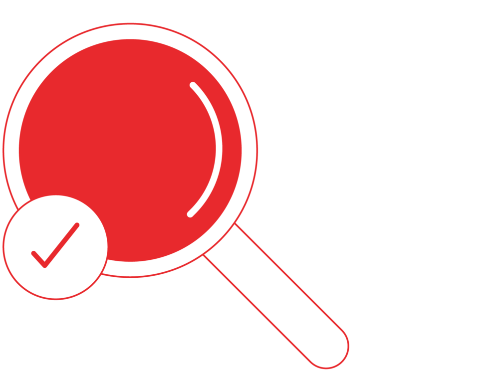 Magnifying Glass with Small Check Mark