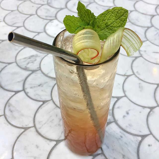 Come in for a our riskiest of all, The Gin & Tonic Risqué🍹House made Rhubarb infused Gin, Bonal and Rhubarb-lime cordial! . . . . . . #food #wine #bourbon #bar #restaurant #cocktail #cocktails #MeetMeAtMarmite #spiritinthebottle #seattle #mixology #foodporn #foodandwine #seattlegenie #naftalysareback #chophouserow