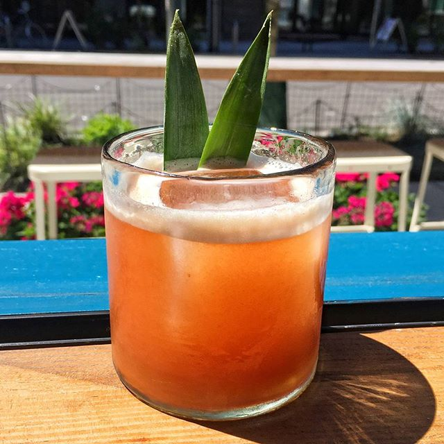 Beat the heat with a Water Balloon Fight! @plantation.rum OFTD, pineapple, lime & @ayakoandfamily Water Balloon Plum Jam #MeatMeAtMarmite #spiritinthebottle #seattlegenie  #food #wine #bar #restaurant #cocktail #cocktails  #seattle #chophouserow