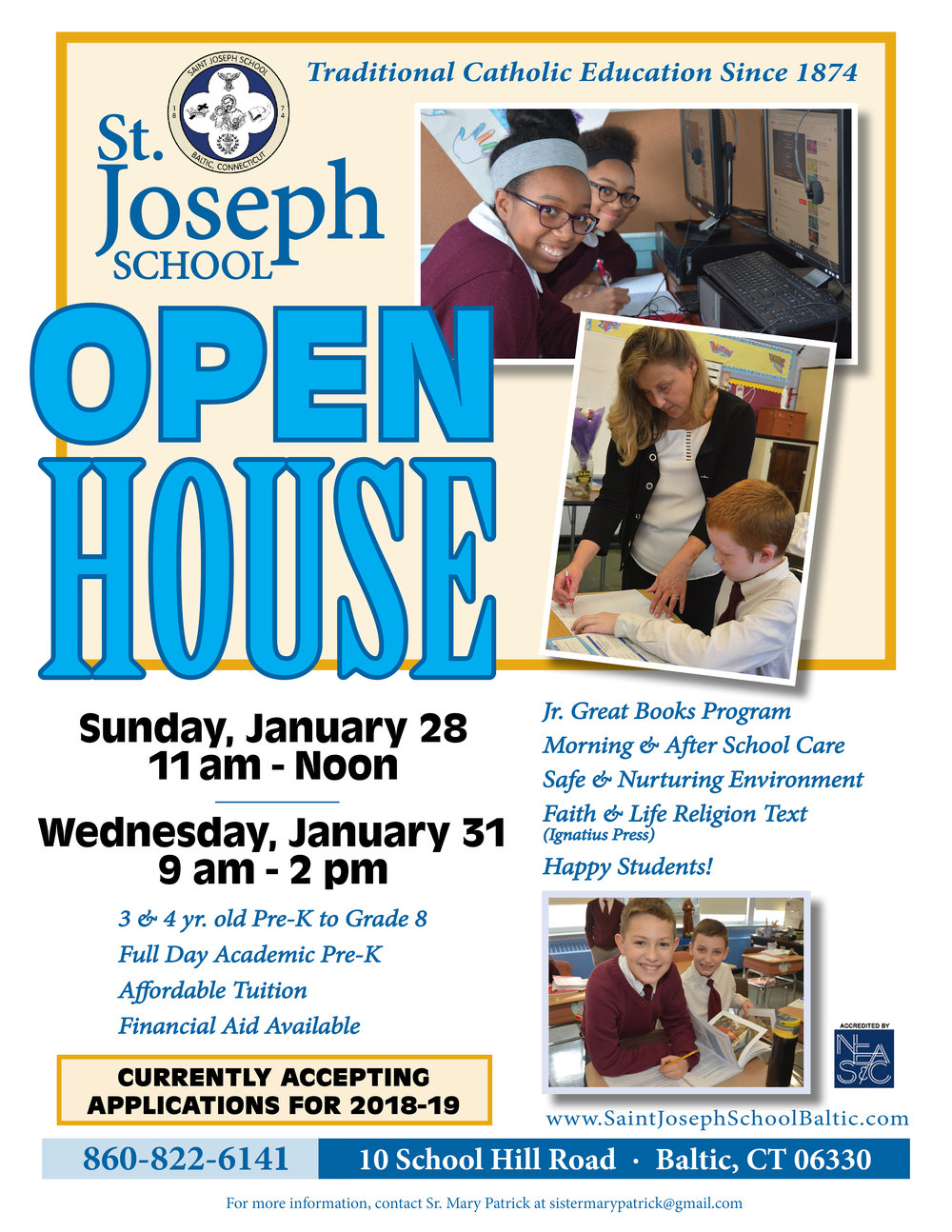 Open House Flyer January 2018