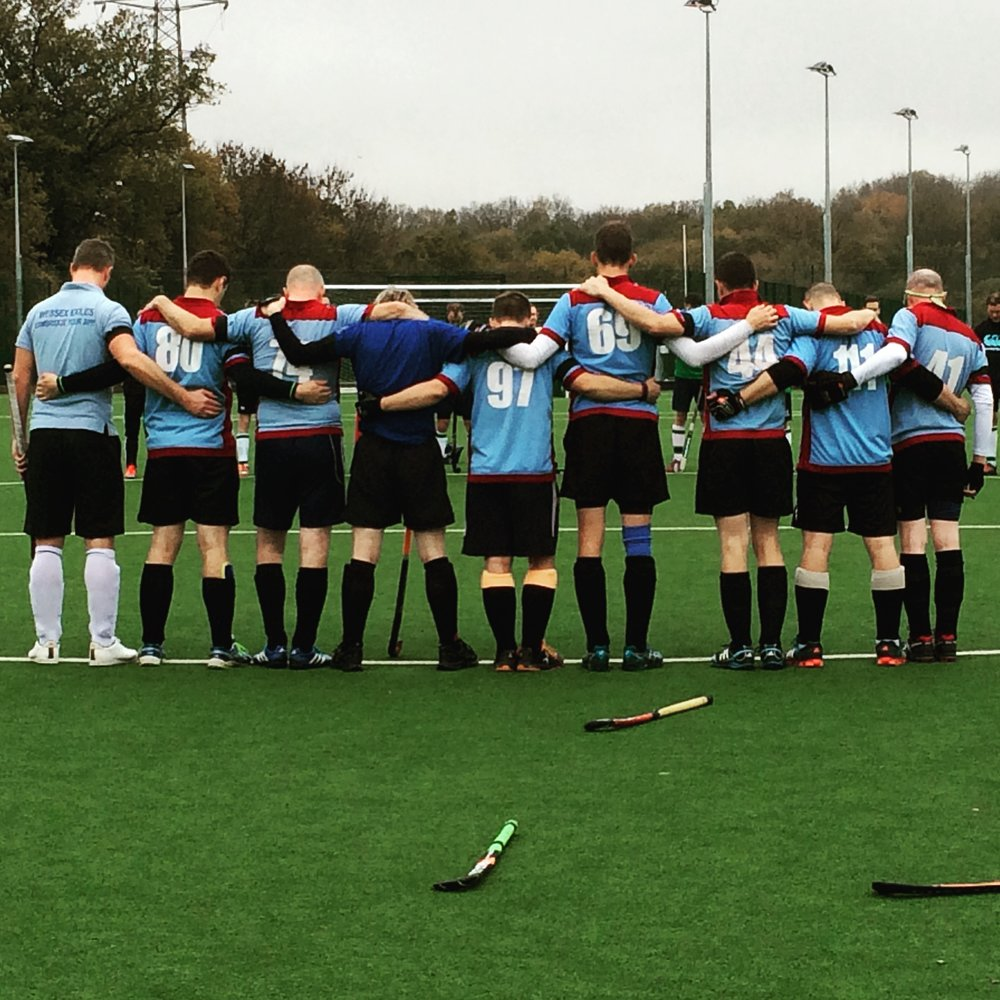 Mens 1 taking two-minutes silence before the game