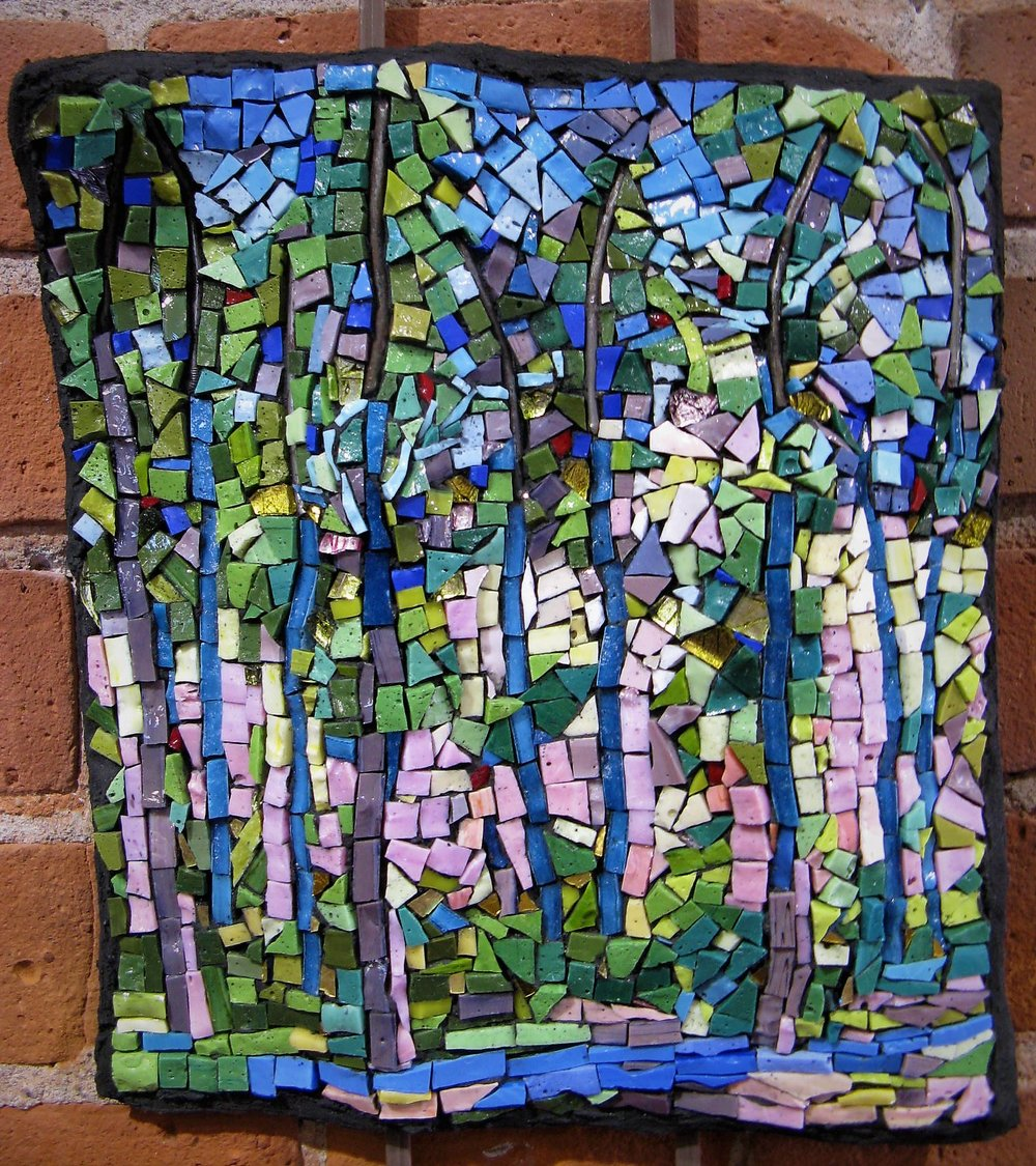 """Spring"" - mixed media mosaic - by Rebecca Campbell"