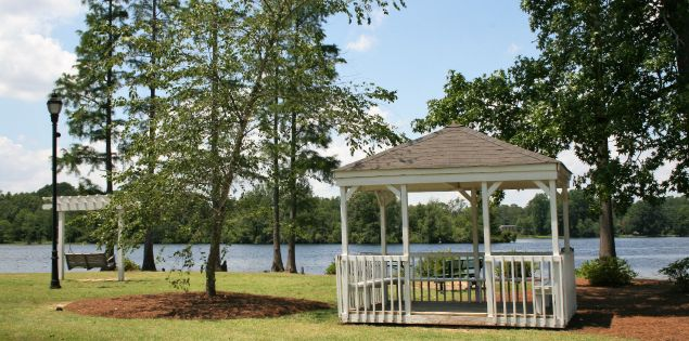Enjoy the pleasant surroundings of Lawton Park, located on the banks of Prestwood Lake.