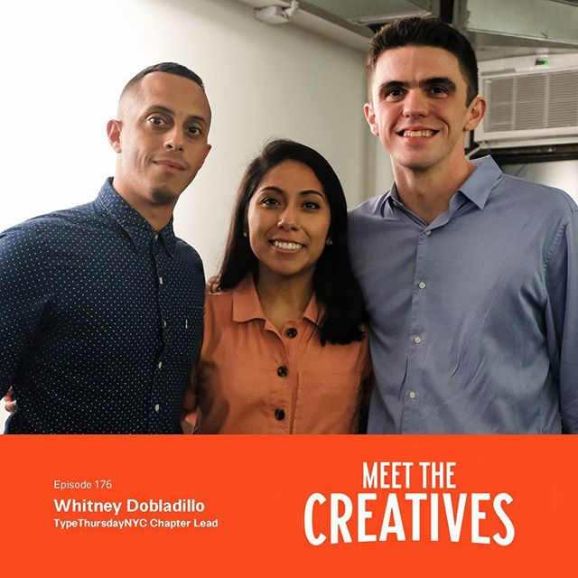We're excited that our NYC Chapter Lead Whitney Dobladillo was on the Meet the Creatives Podcast! Take a listen to hear about the importance of community, despite your everyday hustle to make it out in the world. Listen here: http://ow.ly/BcD030msrot  @whitdobladillo @meetthecreativesny