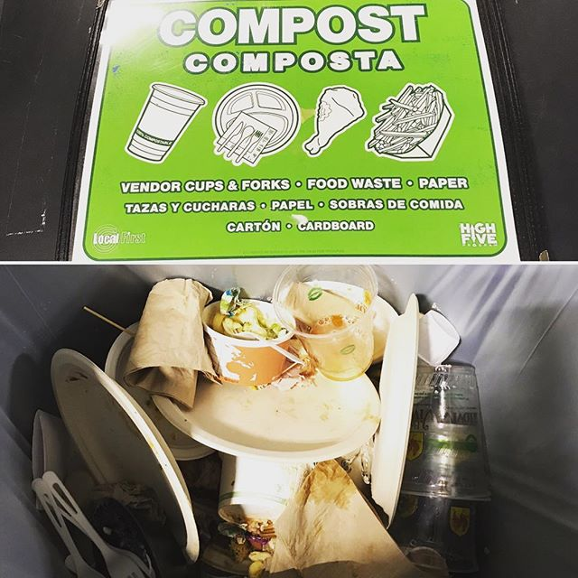 A HUGE Thank You to the @localfirstwestmi Vendors for providing exclusively #compostables at #forkfest2017! This is what #ZeroWaste looks like. #lesstrashmorefun